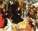 96 - Firenze. Galleria degli Uffizi sale Botticelli - Qui è conservato uno dei capolavori dei primitivi fiamminghi, l'opera monumentale di Hugo van der Goes, (1473-1478 ca.) conosciuto come Trittico Portinari, giunto a Firenze nel 1483 (parte centrale).