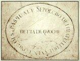 115 -Firenze. La chiesa di Santa Margherita dei Cerchi .Sepolcro della Compagnia dei Quochi