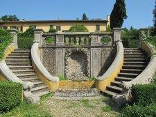 170 -Fiesole. Villa Schifanoia, Scalinata