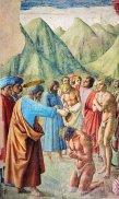 43 -Firenze. La chiesa di Santa Maria del Carmine. La cappella Brancacci,dettaglio