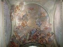 56 -Firenze. La chiesa di Santa Maria del Carmine. Gli affreschi della cupola e i lunettoni
