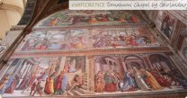 71 -Firenze. La Basilica di Santa Maria Novella. Affreschi della Cappella Tornabuoni »