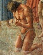 44 -Firenze. La chiesa di Santa Maria del Carmine.Battesimo dei neofiti particolare