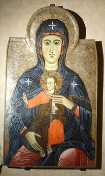 149 -Fiesole -Duomo. Maestro del Bigallo, Madonna col Bambino, 1215 - 1220