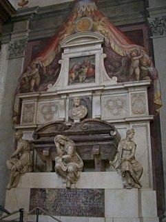 14 -Firenze -La basilica di Santa Croce.Tomba di Michelangelo