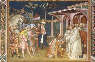 131 -Firenze -La basilica abbazia di San Miniato al Monte -La sagrestia, a cui si accede dalla navata sinistra del presbitero, è decorata da un grande ciclo di affreschi sulla Vita di San Benedetto di Spinello Aretino (1387).