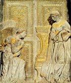 15 -Firenze -La basilica di Santa Croce.L'Annunciazione di Donatello