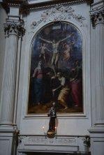 63 -Firenze. La chiesa di Santa Maria del Carmine. Crocefissione del Vasari