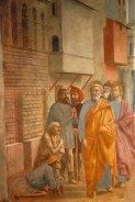 40 -Firenze. La chiesa di Santa Maria del Carmine. La cappella Brancacci, dettaglio