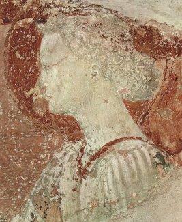 133 -Firenze -La basilica abbazia di San Miniato al Monte -Resti di affreschi Paolo Uccello nel refettorio dell'abbazia
