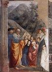 35 -Firenze. La chiesa di Santa Maria del Carmine. La cappella Brancacci, dettaglio