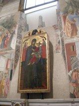 54 -Firenze. La chiesa di Santa Maria del Carmine.Cappella Brancacci La Madonna del Popolo