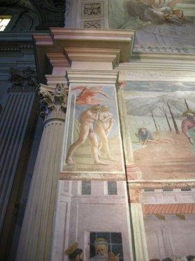 57 -Firenze. La chiesa di Santa Maria del Carmine. Cappella BrancacciCacciata dei progenitori dall'Eden