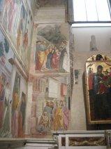 53- Firenze. La chiesa di Santa Maria del Carmine.Cappella Brancacci Particolare ravvicinato