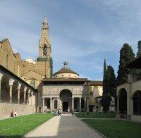 21 -Firenze -La basilica di Santa Croce.Il Chiostro e la Cappella Pazzi