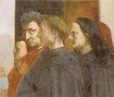 60 -Firenze. La chiesa di Santa Maria del Carmine.Cappella Brancacci I ritratti di Masaccio, Brunelleschi, Alberti e Masolino