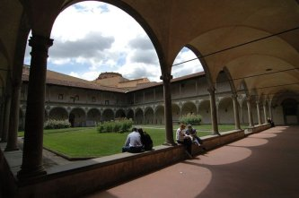 22 -Firenze -La basilica di Santa Croce.Il secondo chiostro