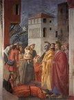 48 -Firenze. La chiesa di Santa Maria del Carmine. La cappella Brancacci, dettaglio