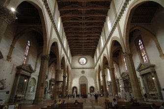 6 -Firenze -La basilica di Santa Croce. La navata arnolfiana