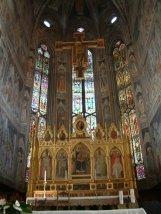8 -Firenze -La basilica di Santa Croce. L'altare maggiore
