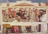 9 -Firenze -La basilica di Santa Croce. Morte di San Francesco, Giotto, Cappella Bardi