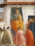39 -Firenze. La chiesa di Santa Maria del Carmine. La cappella Brancacci, dettaglio San Pietro in cattedra
