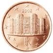 57 - 0,01_€_Italia. Un centesimo di euro raffigurante il castello