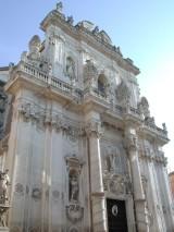 129 - -Lecce. Facciata della chiesa del Rosario o di San Giovanni Battista, risalente al 1659 -1691,