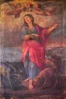 125 - Lecce. Il Palazzo del Seminario, Santa Domenica vergine e martire di Tropea dettaglio