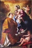127 - Lecce. Il Palazzo del Seminario, San Vincenzo Diacono, dettaglio.