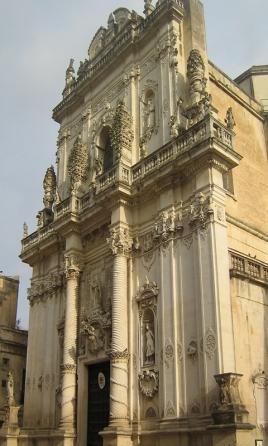 130 -Lecce. Facciata della chiesa del Rosario o di San Giovanni Battista