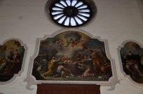 99 -Particolare del Dipinto con Rosone - Chiesa San Domenico Maggiore - sec XIV (Taranto)