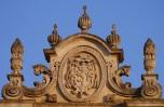 65 -Lecce. Duomo. Particolare della parte superiore con lo stemma di Mons. Pappacoda.