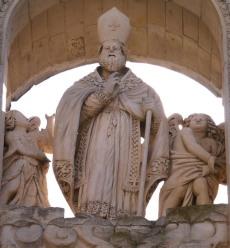 67 -Lecce. Duomo. Dettaglio. S. Oronzo benedicente.