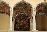 28 -Barletta - Palazzo della Marra, XVII sec. Volta a botte con parte degli affreschi raffiguranti i dodici mesi dell'anno