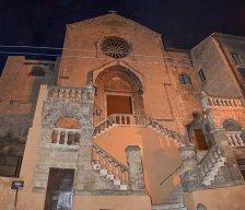 85 -Taranto. Facciata - Chiesa San Domenico Maggiore - splendida costruzione sorta nel 1302 nel Borgo Antico della città.