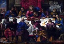 68 - Lecce. Il Duomo, interno. L'incrocio del transetto con la navata centrale accoglie invece il dipinto dell'Ultima Cena.