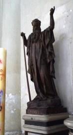 70 - Lecce. Il Duomo, interno, ai lati le statue di Mosè ed Ezechiele. Statua di Mosè, cartapesta modellata, dipinta. Datazione: ultimo quarto XIX secolo. Autore: De Pascalis Giovanni Andrea, bottega salentina.