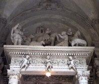 82 -Lecce. Il Duomo. Cappella della Natività o dell'Annunziata, particolare del presepe 1545.