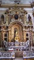 """88 -Lecce. Il Duomo. Cappella dell'Immacolata. Altare della Madonna Assunta"""", pietra di Lecce scolpita, dipinta. Datazione: terzo quarto XVII secolo."""