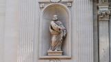 59 - Lecce. Duomo, particolare della facciata. San Pietro
