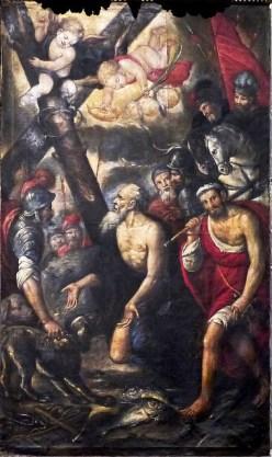 """109 -Lecce. Il Duomo. Dipinto, pala d'altare, """"Sant'Andrea condotto al martirio"""", olio su tela.Datazione: seconda metà XVII secolo.Autore: ambito salentino"""