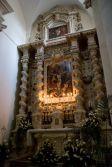 38 -Lecce. Basilica di Santa Croce, interni, particolari, altare della passione.