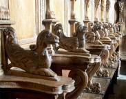 56 -Brindisi. Interno Cattedrale. Particolare del coro ligneo