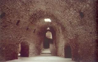29 - Brindisi. Interno del bastione, scala di accesso al piano esterno superiore