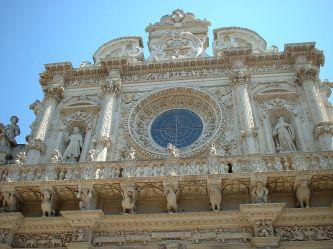 27 - Lecce - Basilica di Santa Croce, particolare facciata.