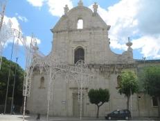 48 - TRANI. CHIESA DI SAN DOMENICO.La chiesa fu costruita nel 1763 sull'area ricavata dalla demolizione di quella di Santa Croce del sec. XIII. questa chiesa a cui era annesso un monastero (attuale carcere femminile) fu concessa ai Padri Domenicani.