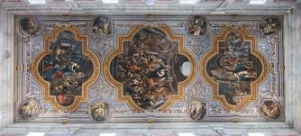 20 - Ostuni. Interno della cattedrale, particolare del soffitto