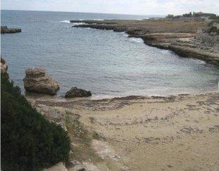 75 -Porto Marzano. Una baia sabbiosa situata sulla destra del complesso di villette. Vi si accede attraverso un piccolo sentiero tra la vegetazione. La cala è detta anche Picco del Diavolo a causa di un enorme scoglio che fuoriesce a riva.