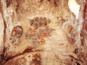 86 - Fasano. Tempietto di Seppannibale - interno,particolare degli affreschi.